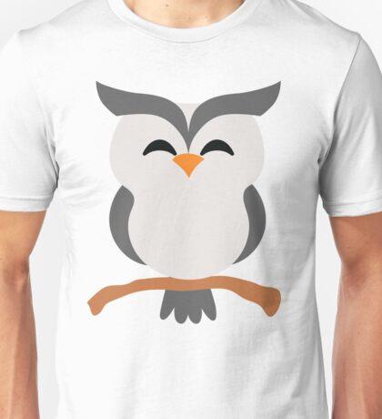 Night Owl Emoji Happy with Joy Face Unisex T-Shirt