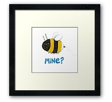 Bee Mine Framed Print