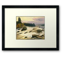 river rock Framed Print