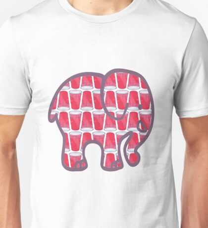 Elephant -- Red Solo Cups Unisex T-Shirt