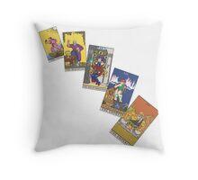 Tarot Cards 0 - 4 Throw Pillow