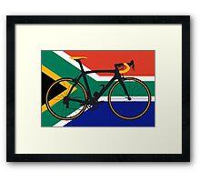 Bike Flag South Africa (Big - Highlight) Framed Print
