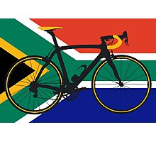 Bike Flag South Africa (Big - Highlight) Photographic Print