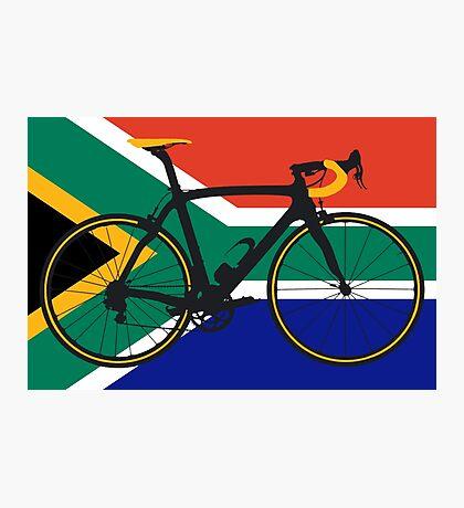Bike Flag South Africa (Big - Highlight) Photographic Print