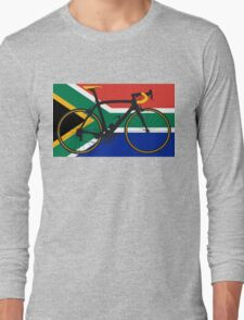 Bike Flag South Africa (Big - Highlight) Long Sleeve T-Shirt