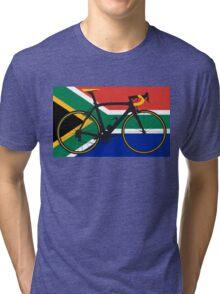 Bike Flag South Africa (Big - Highlight) Tri-blend T-Shirt