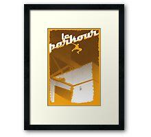 Parkour print Framed Print
