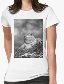 A Kind Frog Palmé (a calendar coming) fz 1000 Olao-Olavia by Okaio Créations c4 (h n et b) Womens Fitted T-Shirt