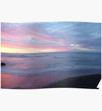 Beautiful ocean sunset Poster