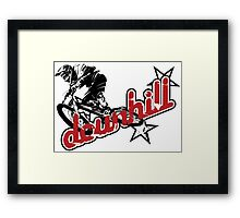 MTB downhill Framed Print
