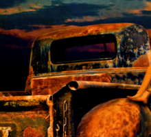 Moonlight Chevy Pickup and Manda from Gantt's Garage Series Sticker
