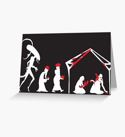 Xenomorph in the Manger Greeting Card