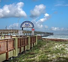 The Pier on A Beautiful Day by LarryB007