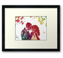 Fitz & Olivia - no background *laptop skins, and mugs added* Framed Print
