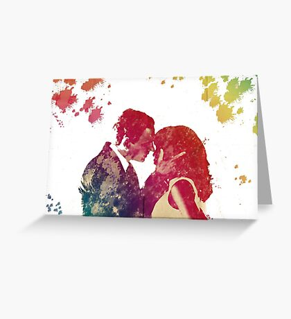 Scandal - Fitz & Olivia - no background *notebooks and journals added* Greeting Card