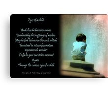 Eyes of a Child Canvas Print