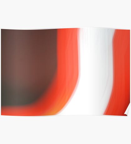 Red Stripes  Poster