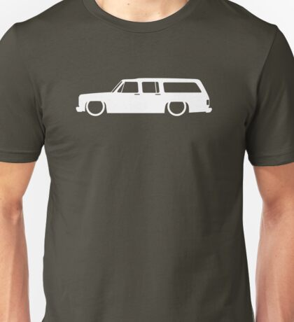 Lowered SUV for Chevrolet Suburban 1973-1991, 8th Gen enthusiasts Unisex T-Shirt