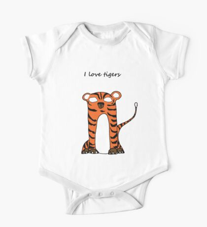 Siberian Tiger One Piece - Short Sleeve