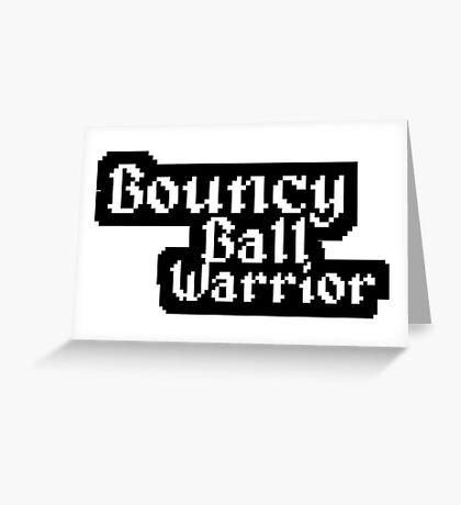Bouncy Ball Warrior Shirt Greeting Card
