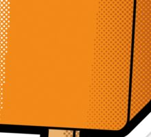 Orange Split Sticker