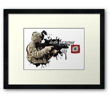 Death For Money  Framed Print
