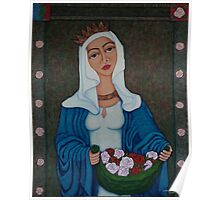 Queen Saint Isabel - The miracle of roses Poster