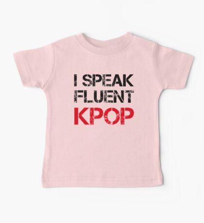 I SPEAK FLUENT KPOP - KHAKI Baby Tee