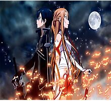Asuna and Kirito Photographic Print