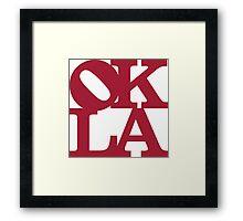 OKLA (Crimson)-large Framed Print