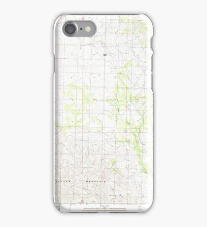 USGS TOPO Map California CA Snowstorm Mountain 295242 1989 24000 geo iPhone Case/Skin