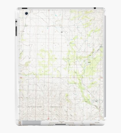 USGS TOPO Map California CA Snowstorm Mountain 295242 1989 24000 geo iPad Case/Skin