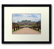 Oberes Belvedere, Vienna Austria Framed Print
