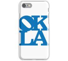 OKLA (Blue)-small iPhone Case/Skin