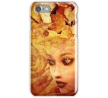Autumn background and girl iPhone Case/Skin