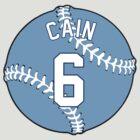 Lorenzo Cain Baseball Design by canossagraphics