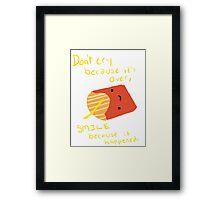 Fries Make Me Smile Framed Print