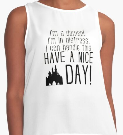 Damsel in Distress Contrast Tank