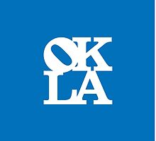 OKLA (White on Blue)-small by okjane