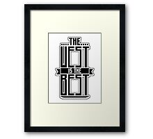 The West is the Best Framed Print