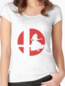 Peach - Super Smash Bros. Women's Fitted Scoop T-Shirt