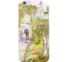 A stroll in autumn iPhone Case/Skin