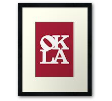 OKLA (White & Crimson)-large Framed Print