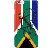Bike Flag South Africa (Big - Highlight) iPhone Case/Skin