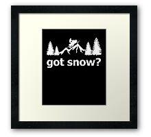 Got Snow Snowmobile Framed Print