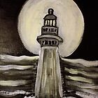 Moonlit Lighthouse by Brent Fennell