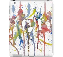 Colorful birds watching fireworks-original iPad Case/Skin