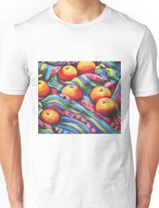 Fruit on Striped Cloth Unisex T-Shirt