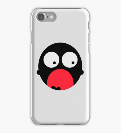 Screaming mouth of a little monster iPhone Case/Skin