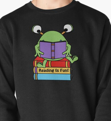 Reading Is Fun Cute Book Loving Alien Pullover